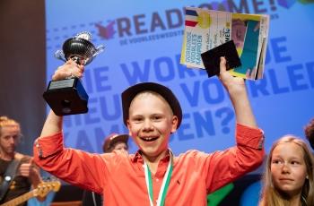 Read2Me! Brugklas Voorleeskampioen 2019 Pieter van Aalst