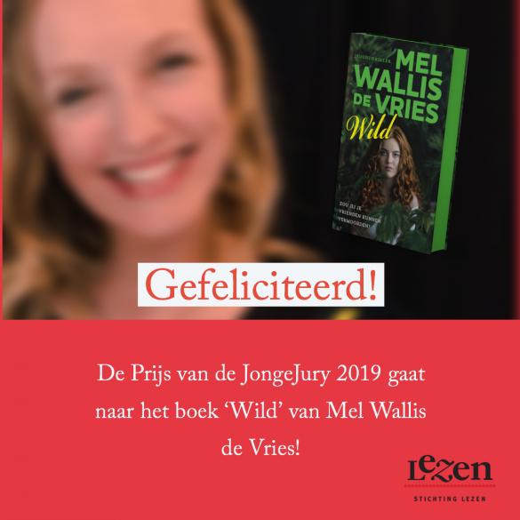 Prijs van de Jonge Jury 2019 gaat naar 'Wild' van Mel Wallis de Vries