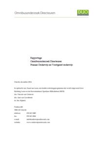 omslag rapport Omnibusonderzoek directeuren (2014)