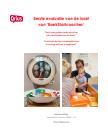 omslag rapportage Eerste evaluatie van de inzet van BoekStartcoaches, door Qrius