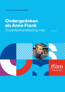 omslag docentenhandleiding mbo Ondergedoken als Anne Frank