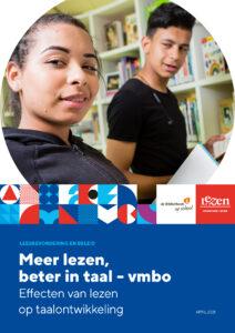 omslag rapport Meer lezen, beter in taal - vmbo